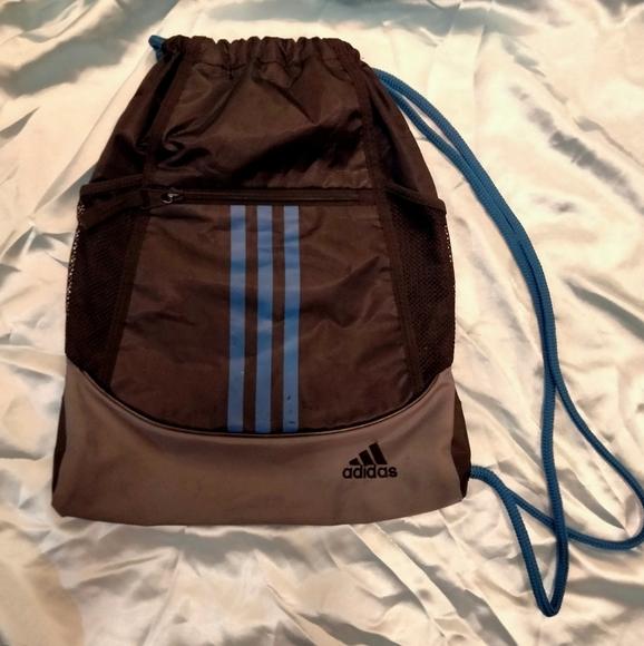 Adidas soft drawstring backpack workout pack bag